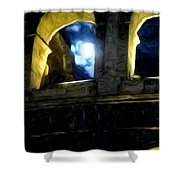 Moonlight At The Colosseum Shower Curtain