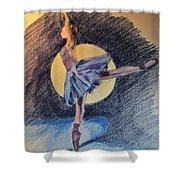 Moonlight Ballerina Shower Curtain