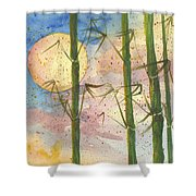 Moonlight Bamboo 2 Shower Curtain