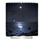 Moonlight Bay Shower Curtain