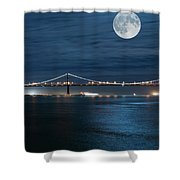 Shimmering In The Moonlight Shower Curtain