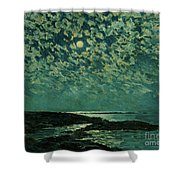 Moonlight Shower Curtain by Childe Hassam