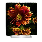 Moonlight Dahlia Shower Curtain