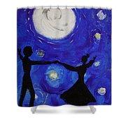 Moonlight Dance Shower Curtain