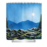 Moonlight Hike Shower Curtain