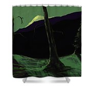 Moonlight In The Rockies Shower Curtain