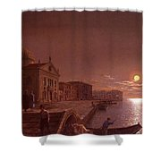 Moonlight In Venice Henry Pether Shower Curtain