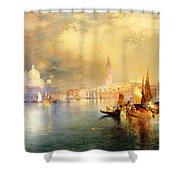 Moonlight In Venice Shower Curtain