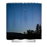 Moonlight Mirage Methow Valley Landscapes By Omashte Shower Curtain