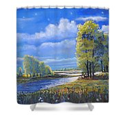 Moonlight On Clear Creek Shower Curtain
