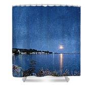Moonlight On Mackinac Island Michigan Shower Curtain