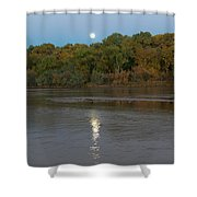 Moonlight On The Rio Grande Shower Curtain