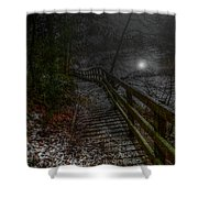 Moonlight On The River Bank Shower Curtain
