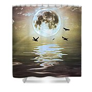 Moonlight On Water Shower Curtain