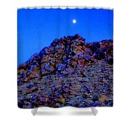 Moonlight Over Peggy's Mountain Shower Curtain