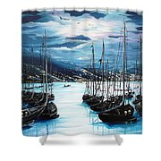 Moonlight Over Port Of Spain Shower Curtain