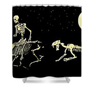 Moonlight Run Shower Curtain