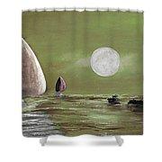 Moonlight Sailnata 2 Shower Curtain