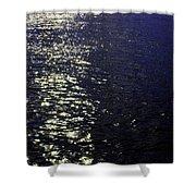 Moonlight Sparkles On The Sea Shower Curtain