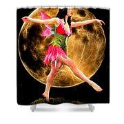 Moonlight Stroll Of A Fairy Shower Curtain