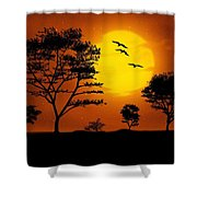 Moonlight, Supermoon Shower Curtain