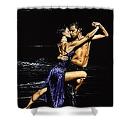 Moonlight Tango Shower Curtain