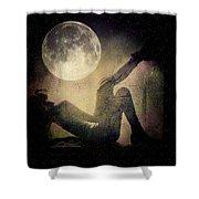 Moonlight Tanning V3 Shower Curtain