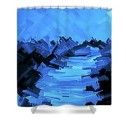 Moonlight Trek Shower Curtain