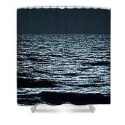 Moonlight Waves Shower Curtain