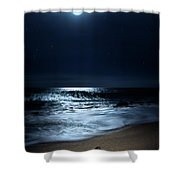 Moonlit Coconut Shower Curtain