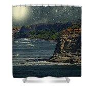 Moonlit Cove Shower Curtain