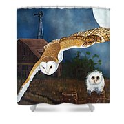 Moonlit Flight Shower Curtain