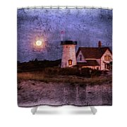Moonlit Harbor Shower Curtain