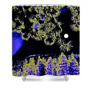 Moonlit High Country Shower Curtain