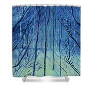 Moonlit In Blue Shower Curtain