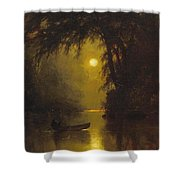 Moonlit Landscape Shower Curtain