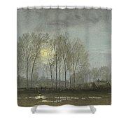 Moonlit Landscape Shower Curtain