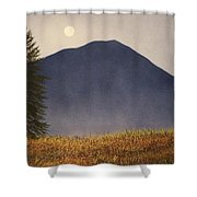 Moonlit Mountain Meadow Shower Curtain