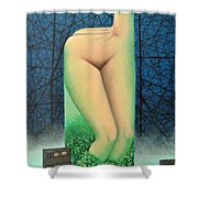 Moonlit Night- A Shower Curtain