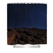 Moonlit Night, Atacama Desert, Chile Shower Curtain