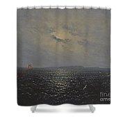Moonlit Night By Ruegen Shower Curtain