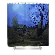 Moonlit Path Shower Curtain