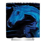 Moonlit Run Shower Curtain