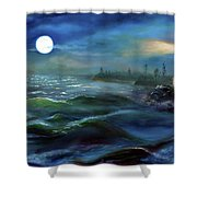 Moonlit Sea Shower Curtain