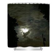 Moonlit Strip Shower Curtain