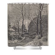 Moonlit Stroll In Winter Shower Curtain
