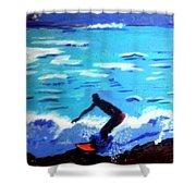 Moonlit Surf Shower Curtain