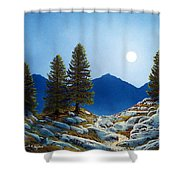 Moonlit Trail Shower Curtain