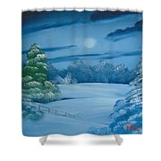 Moonlit Tranquility Shower Curtain