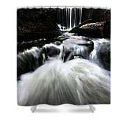 Moonlit Waterfall Shower Curtain
